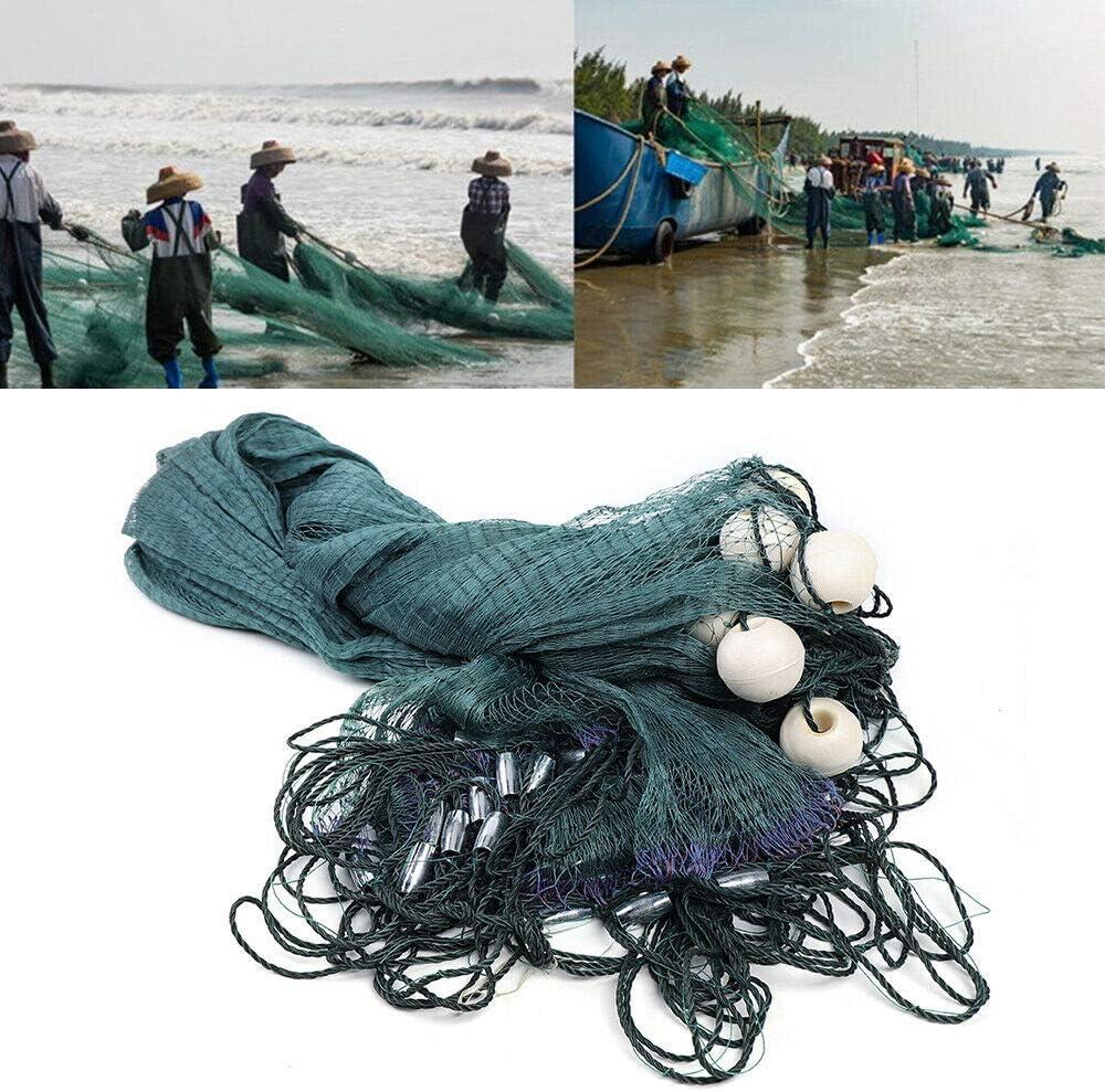 DYRABREST Green Fishing Gill Nets Hand Max 73% OFF Max 48% OFF Net Drag Made Beach Seine