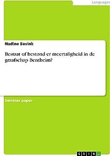 Bestaat of bestond er meertaligheid in de graafschap Bentheim? (Dutch Edition)