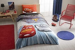 wellstil %100 Cotton Disney Car's 3 Kid's Duvet/Quilt Cover Set Single/Twin Size Kids Bedding