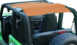 ALIEN SUNSHADE Jeep Wrangler Mesh Shade Top Cover with 10 Year Warranty Provides UV Protection for Your TJ (1997-2006) (Krush Orange)