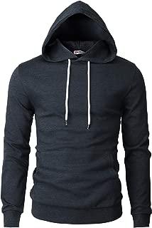 Mens Casual Slim Fit Long Sleeve Hoodie Lightweight Basic Designed