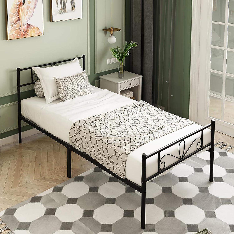 MTB 12 Inch Premium Twin Size Frame Albuquerque Mall Ranking TOP12 Platform Metal Bed Mattress