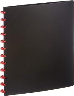 Durable 242601 Duralook Easy Reliure Protège - Documents à Pochettes Amovibles - 20 Pochettes/40 Vues Noir