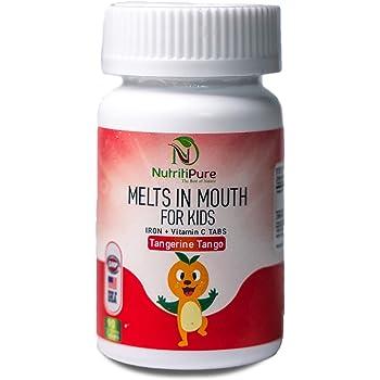 Kids Chewable Iron Supplement (Ferronyl®/Carbonyl Iron 9 mg with Vitamin C 30 mg) Tablet in Tangerine Tango Orange Flavor 90 Count (1 Bottle)