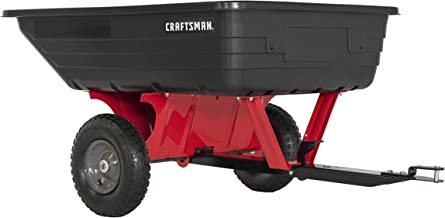 Craftsman CMXGZBF7124489 10-cu ft Poly Dump Cart, Red