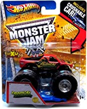 Tropical Thunder 1st Editions New Deco Hot Wheels Monster Jam Truck 1:64 w/ Crushable Car 2013 Decade of Maximum Destruction MAX-D by Mattel