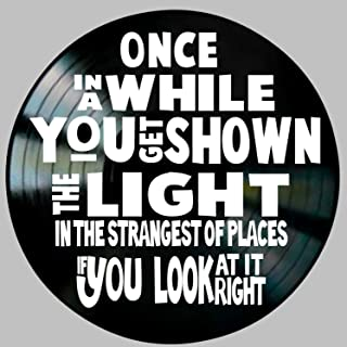 Scarlet Begonias Shown the Light Song Lyric Art inspired by Grateful Dead Vinyl Record Wall Decor