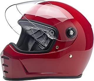 Biltwell Unisex-Adult Full face Lane Splitter Helmet Gloss Blood Red X-Small