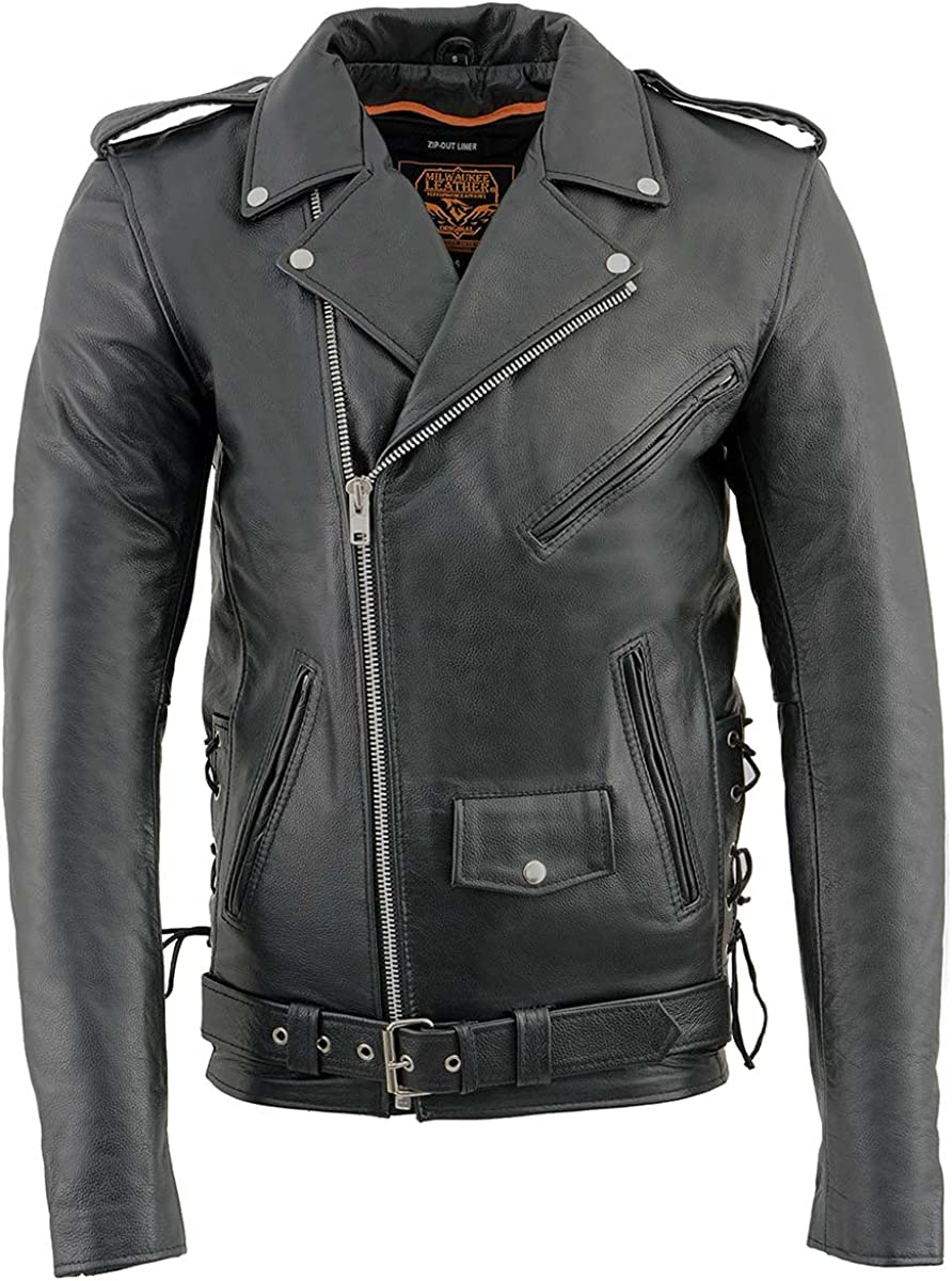 Milwaukee Leather price SH1011 Tall Men's Side Police Classic Lace Sty unisex