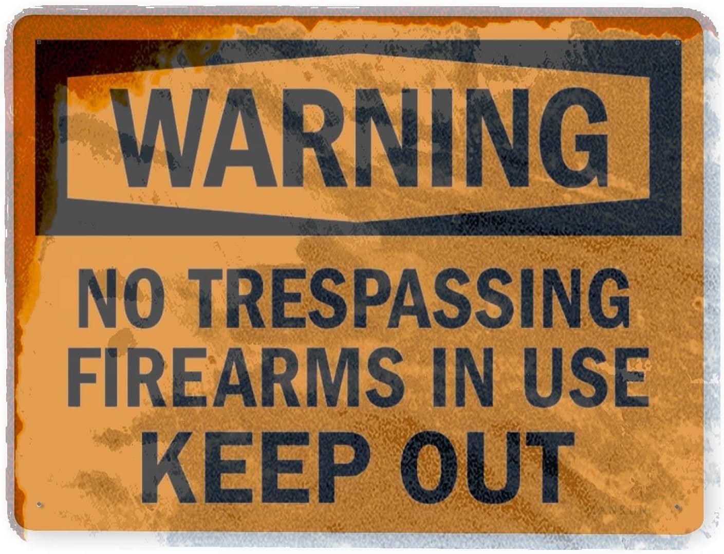 Man Cave Max 52% OFF Decor 2 Pieces Warning T shooting No Range Sign Recommended