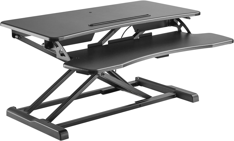 Sit Stand Desk Height Adjustable Desktop Workstation Gas Lift greenical Riser