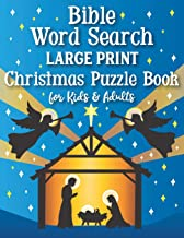 Bible Word Search Large Print Christmas Puzzle Book for Kids and Adults