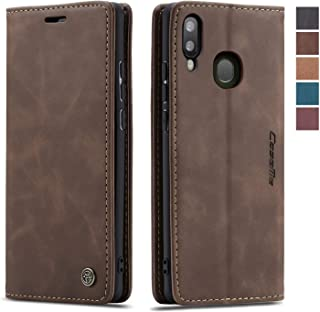 Samsung Galaxy A30/A20 Case,Samsung Galaxy A30/A20 Wallet Case Cover, Magnetic Stand Flip Protective Cover Leather Flip Cover Durable Shockproof Protective Cover for Samsung Galaxy A30/A20(Coffee)
