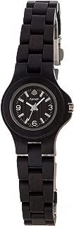 Tense Dark Sandalwood Wooden Mini Northwest Round Bracelet Watch L4300D Ladies