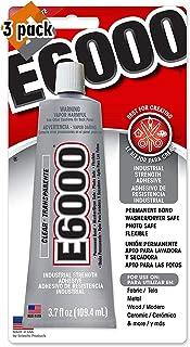 E6000 230010 Craft Adhesive, 3.7 Fluid Ounces - 3 Pack