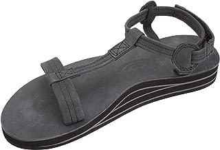 Women's Double Layer Leather Calafia Trekker w/Adjustable Velcro Strap
