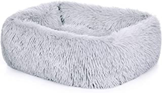 ZHEBU Washable Dog Bed Non-Slip, Dog Calming Bed Soft and Fluffy, Anxiety Dog Beds for Small Dogs, Cute Dog Bed, Pet Bed f...