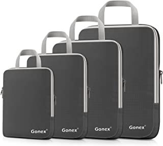 Gonex Compression Packing Cubes, Expandable Packing Organizers 4pcs (Deep Gray)
