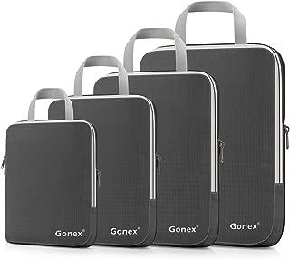 Gonex Extensible Packing Cubes 4 sets (Deep Gray)