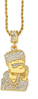 Men Women 18K Gold Plated Necklace with Gift Box 18KGP...