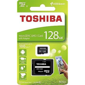 128GB microSDXCカード マイクロSD TOSHIBA 東芝 CLASS10 UHS-I R:100MB/s SDアダプター付 海外リテール THN-M203K1280