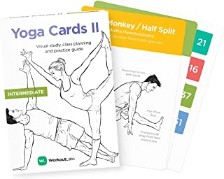 WorkoutLabs Intermediate – Premium Visual Study, Class Sequencing & Practice Guide with Sanskrit Asana Names Vol. 2 by WorkoutLabs (Plastic Flash Cards Deck) 646809418112