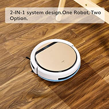 ILIFE V5s Pro, 2-in-1 Robot Vacuum and Mop, Slim, Automatic Self-Charging Robotic Vacuum Cleaner, Daily Schedule, Ideal for P
