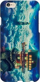 ブレインズ iPhone6S iPhone6 ハード ケース カバー 熱烈歓迎! 天国的喫茶店 カラーver ウエダマサノブ 天国 喫茶店 天空 ファンタジー 縄文じいさん イラスト