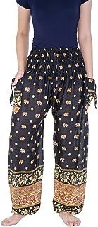 Lannaclothesdesign Women's Elephant Print Harem Pants S M L XL XXL Size