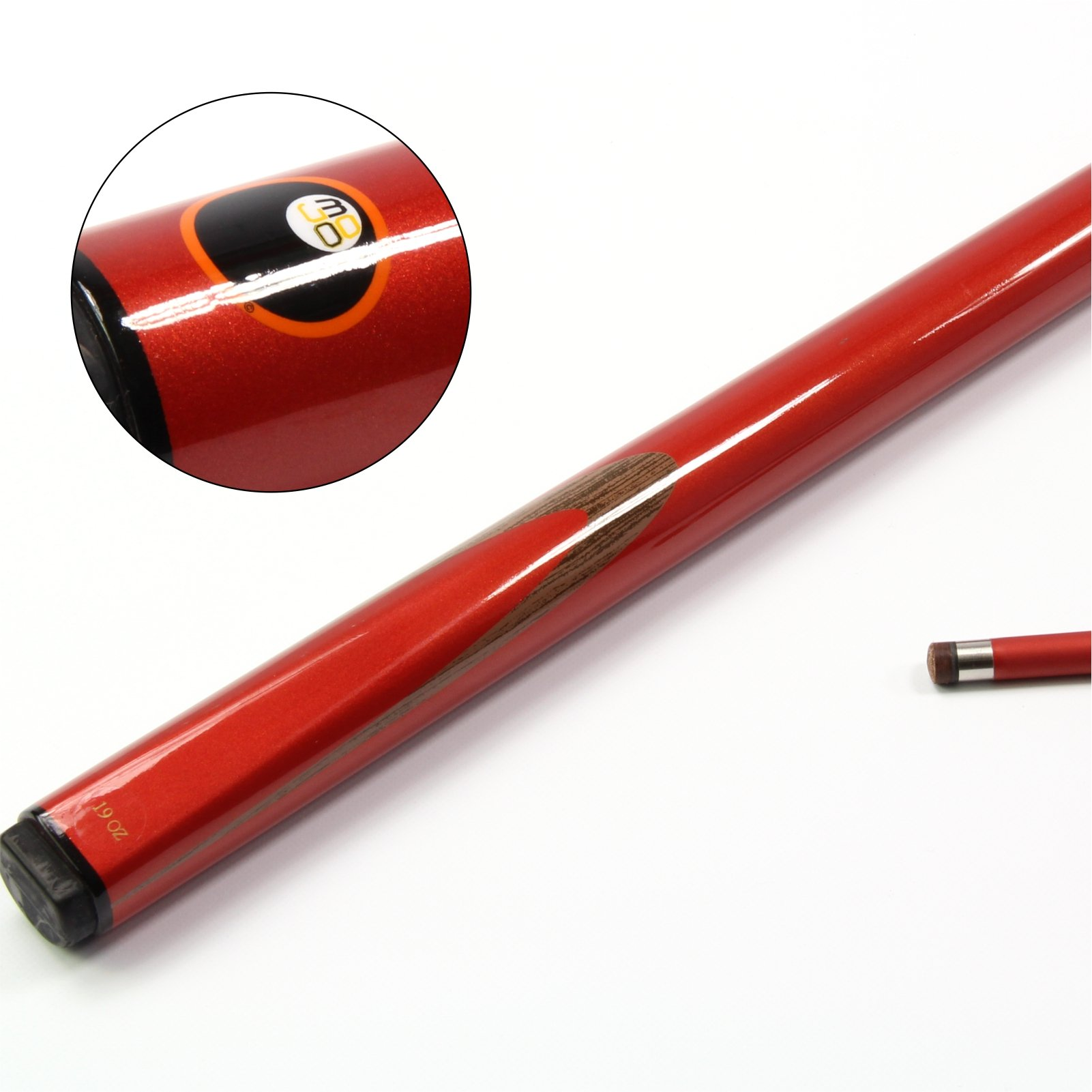 Mojo rojo 2 pc de grafito de carbono billar - 9 mm punta: Amazon.es: Deportes y aire libre