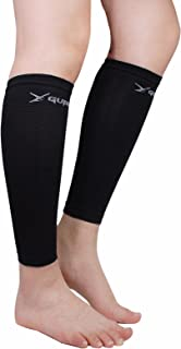 پوشش تاتو آستین فشرده سازی پا برای زنان پوشاننده مردان - پشتیبانی ساق پا گوساله برای شین اسپلینت و بسکتبال تسکین درد گوساله در حال اجرا باعث افزایش گردش خون در دو قطعه (سیاه)