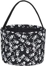 Halloween Trick or Treat Bucket - Candy Basket Tote Bag for Kids(Magic Hat - Pumpkin Grimace - Human Skeletont)