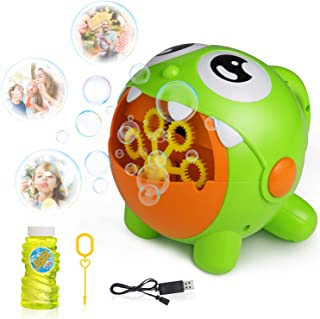 SGILE Bubble Machine Toy, Automatic Bubble Maker with Bubble Cute Solution for Kids Girl Boy Gift