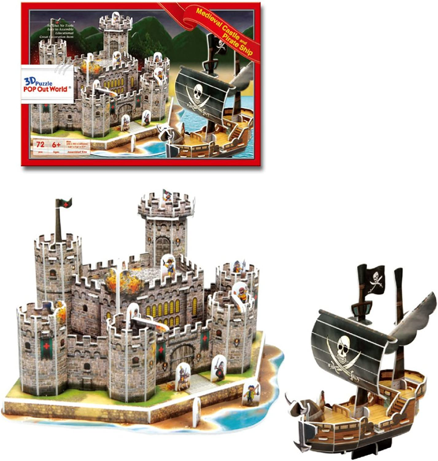 Pirate ship and castle 3D threedimensional puzzle (japan import)