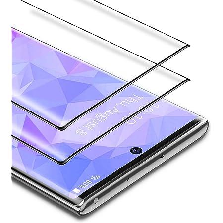 BANNIO Protector de Pantalla Samsung Galaxy Note 10 Plus,2 Unidades 3D Cobertura Completa Cristal Templado para Samsung Galaxy Note 10 Plus/Note 10+ ...