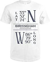Birmingham, Alabama - Latitude and Longitude (Blue) 66758 (Premium White T-Shirt XX-Large)