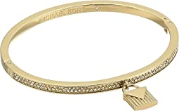 Logo Love Hinge Bracelet with Pave and Ridge Lock Charm
