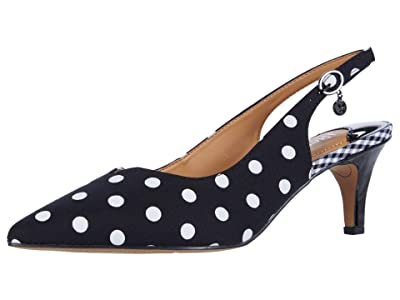J. Renee Envizyn (Black/White Polka Dot) Women