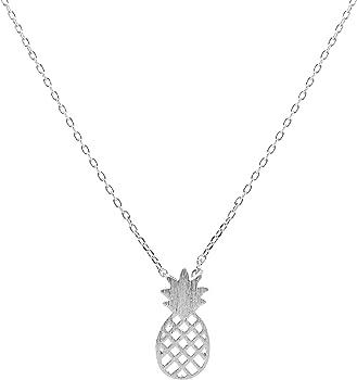 chelseachicNYC Brush Metal Juicy Pineapple Necklace
