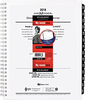 AT-A-GLANCE DayMinder Weekly/Monthly Refill for #G545 Line Planners, January 2018 - December 2018, 6-7/8