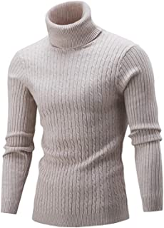 Xmiral Turtleneck Sweater Men Warm Long Sleeve Knit Tops Solid Color Casual Autumn Winter Sweaters