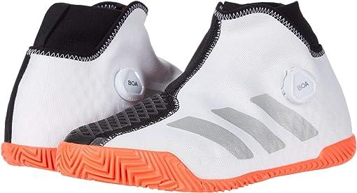 Footwear White/Silver Metallic/Solar Red