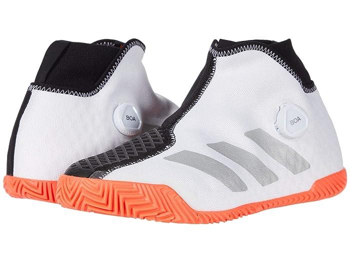 adidas  Stycon M BOA (Footwear White/Silver Metallic/Solar Red) Mens Tennis Shoes