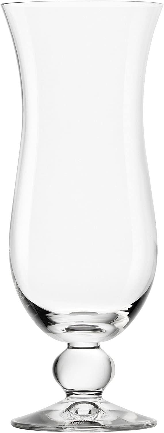 Oberglas 483 00 25 B&L Acapulco Hurricane Glass (6 Pack), 17 oz, Clear