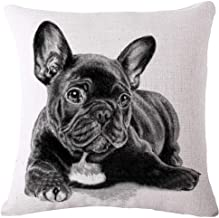 GUIOTE Cotton Linen Square Personalized Decorative Throw Pillow Case Cushion Cover (001)