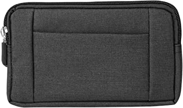Universal Small Zipper Belt Pouch Horizontal Waist Bag w/Card Slot for Samsung Galaxy Note 9 8 / S9+ S8+ / LG V40 ThinQ/Stylo 4 / Motorola G6 E5 / Huawei Mate 20 / Nokia 7 Plus/OnePlus 6T
