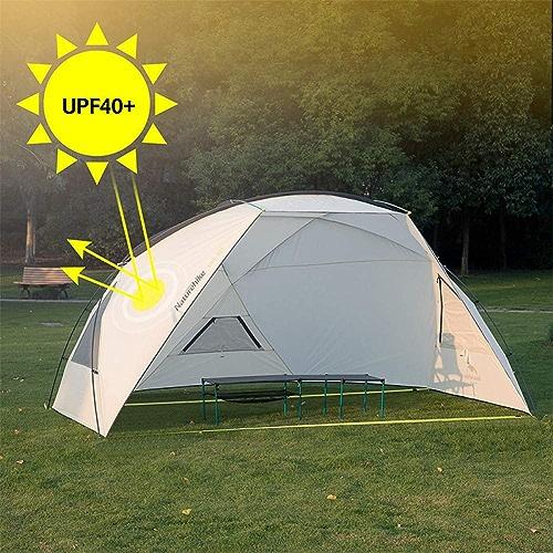 Ashuang Camping Auvent Tente Soleil Prougeection UV Soleil Abri Soleil Auvent en Plein Air étanche à La Pluie Pare-Soleil Plage Bache