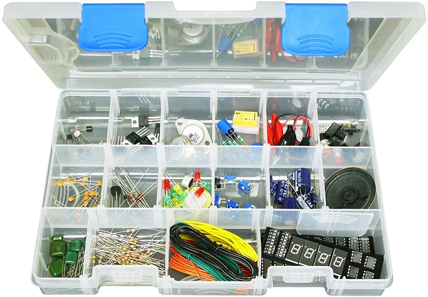 Elenco Component Kit with Storage Case and Assorted Electronic Components [並行輸入品]