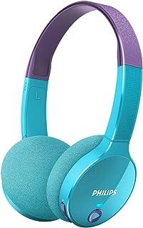 Philips - Auriculares (Inalámbrico, Diadema, Binaural, Supraaural, 10-22000 Hz, Púrpura, Azul)