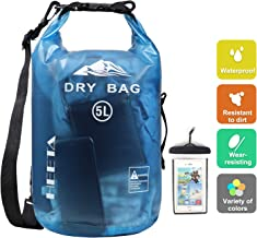 HEETA Waterproof Dry Bag for Women Men, 5L/ 10L/ 20L/ 30L Roll Top Lightweight Dry..